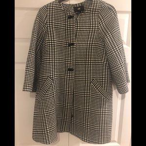 H&M Herringbone plaid swing coat
